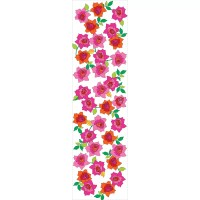 """WallCandy Arts French Bull 2.17' x 26"""" Rose Floral ..."""