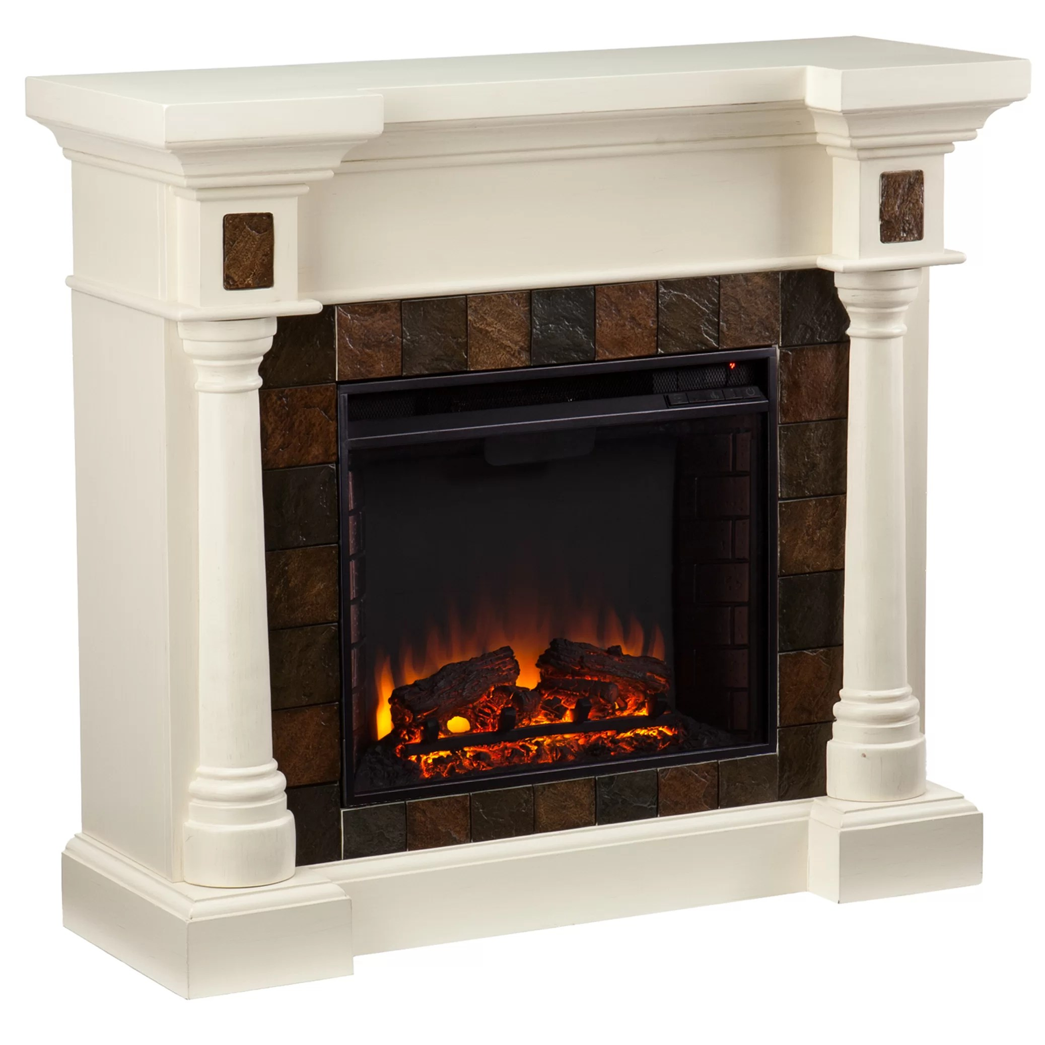 Woodhaven Hill Clark Electric Fireplace  Reviews  Wayfair