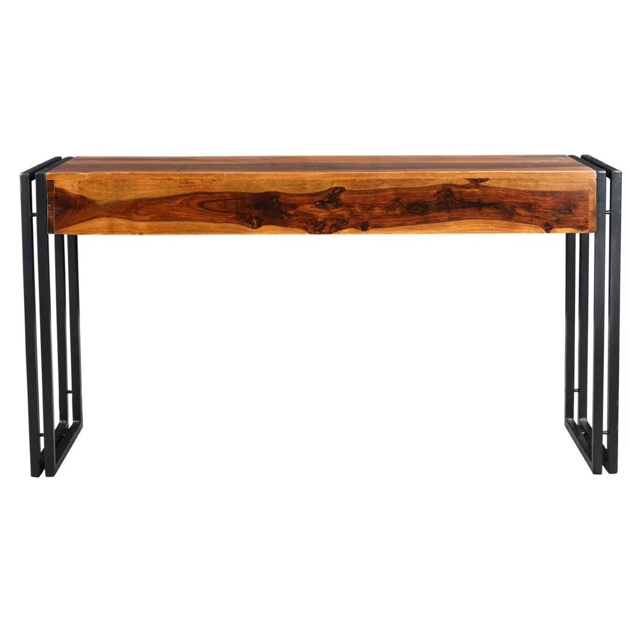 wooden sofa table legs full size bed timbergirl industrial console wayfair