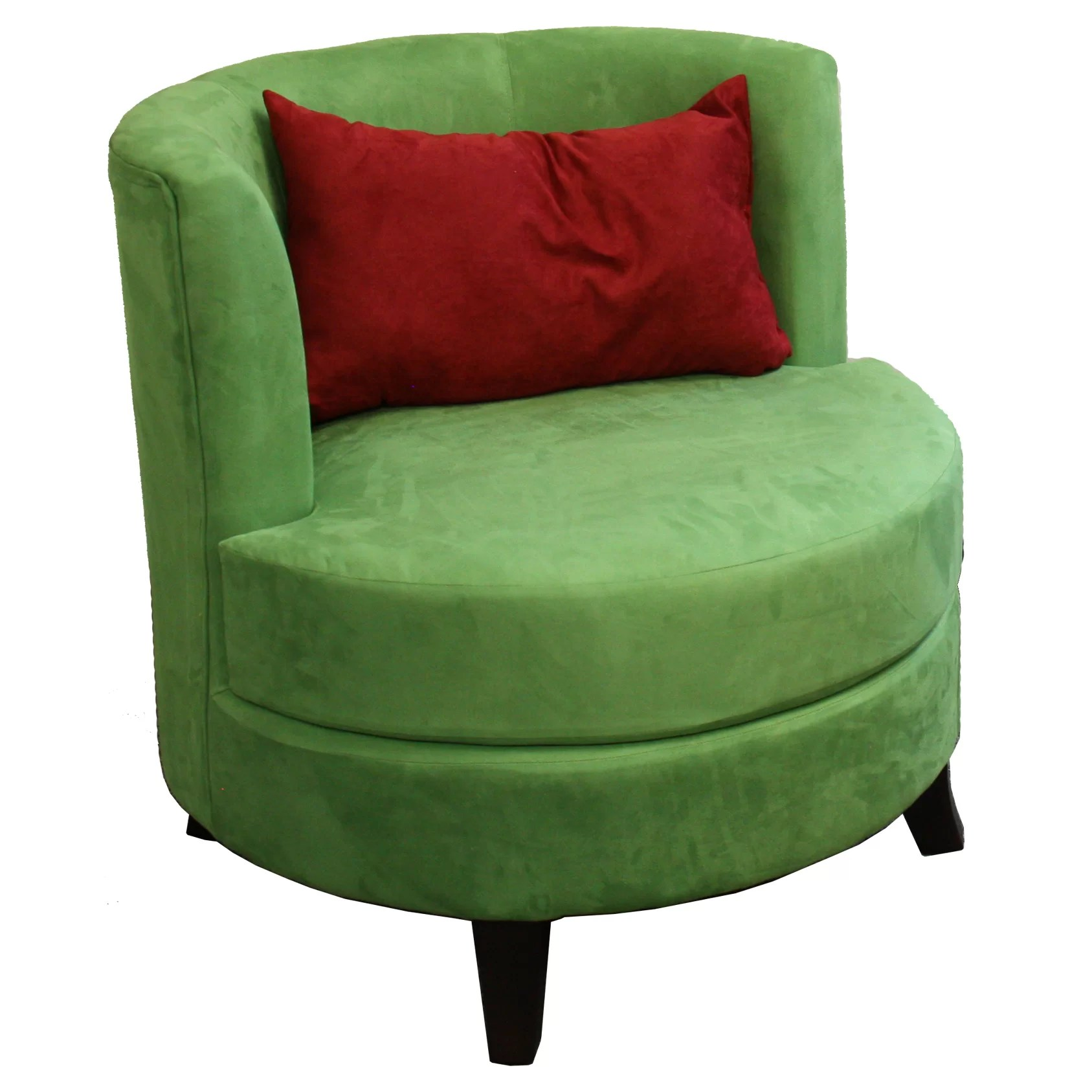 Pillow Chairs Ore Furniture Barrel Chair With Pillow And Reviews Wayfair