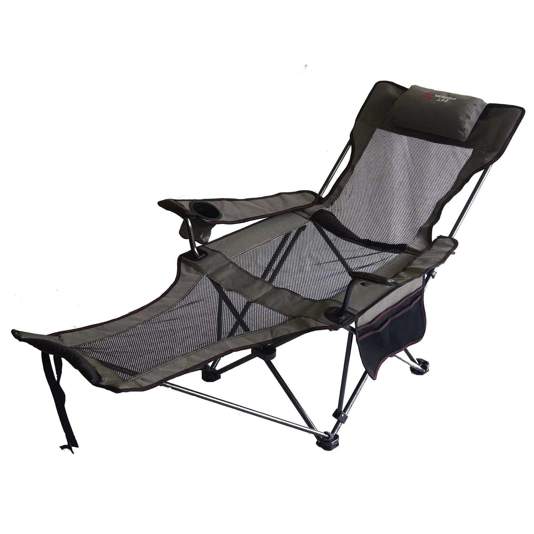 Portable Recliner Chair Ore Furniture Portable Mesh Lounger Reclining Chair