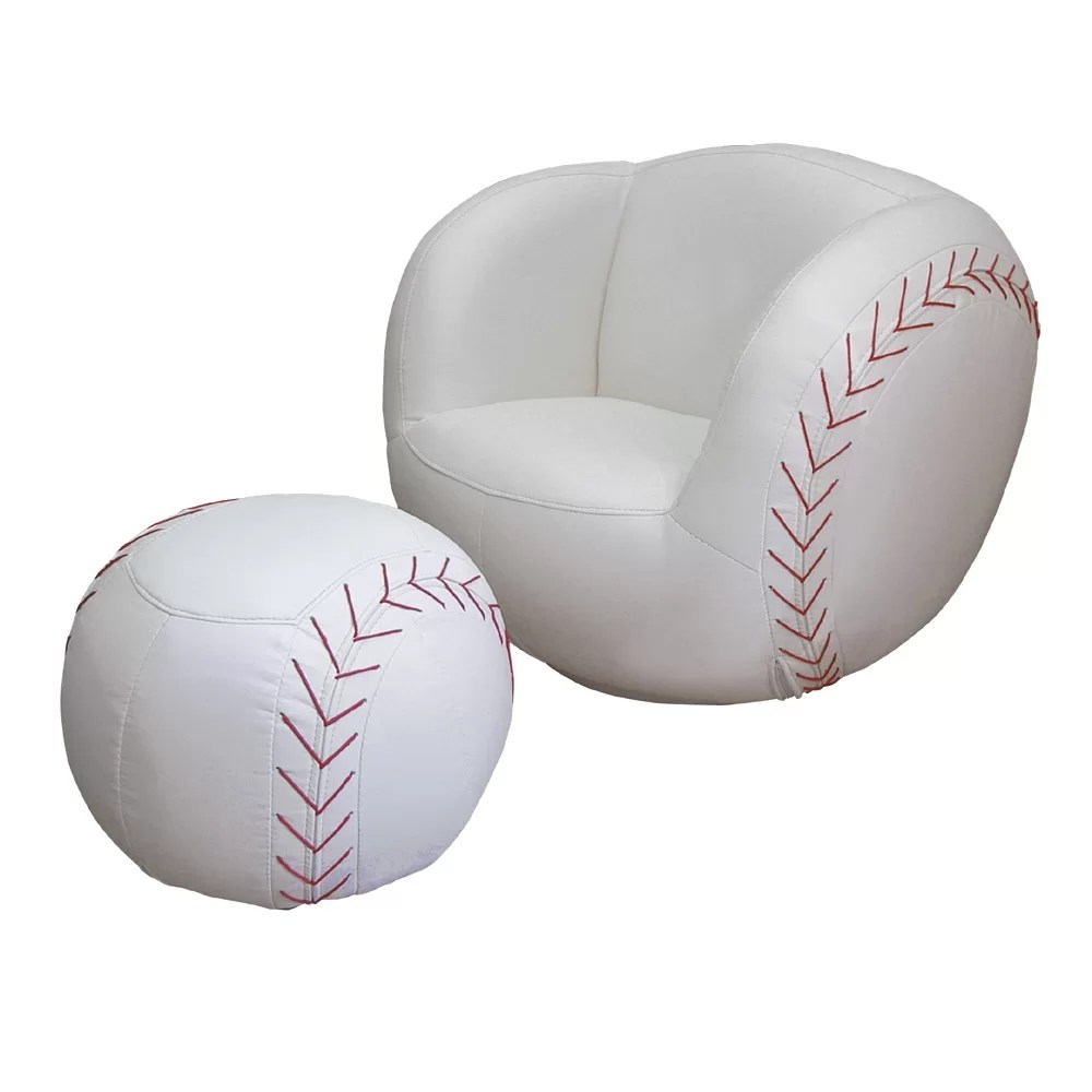 ORE Furniture Baseball Sports Kids Novelty Chair and