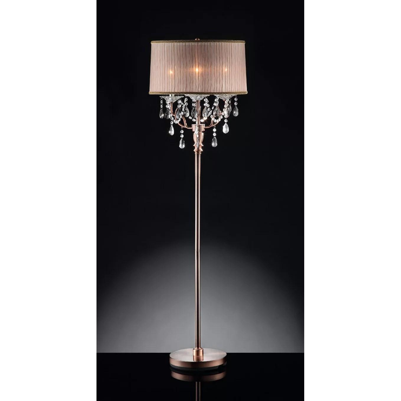 """ORE Furniture Rosie Crystal 59"""" Floor Lamp & Reviews"""