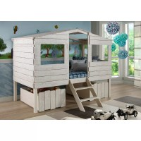 Birch Lane Kids Cabin Lofted Bed with Storage & Reviews ...