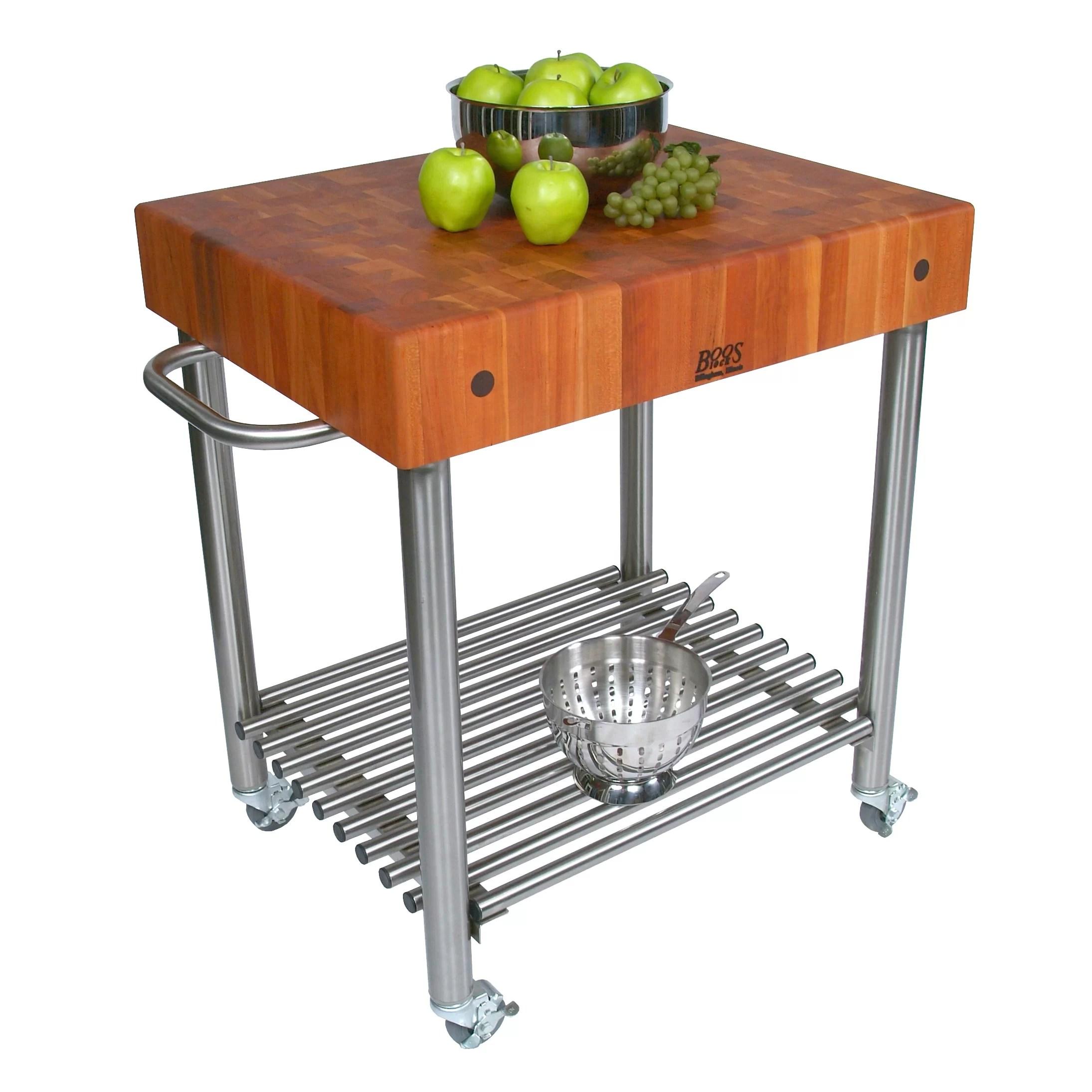 john boos kitchen islands farm tables cucina americana cart with butcher block