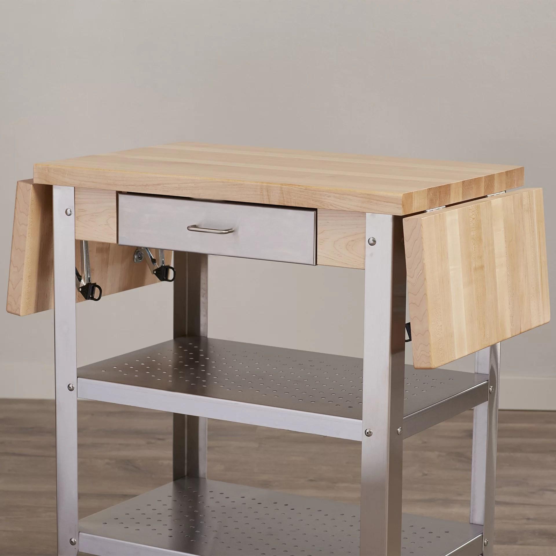 john boos kitchen islands shaker style cabinet hardware cucina americana cart with wood top