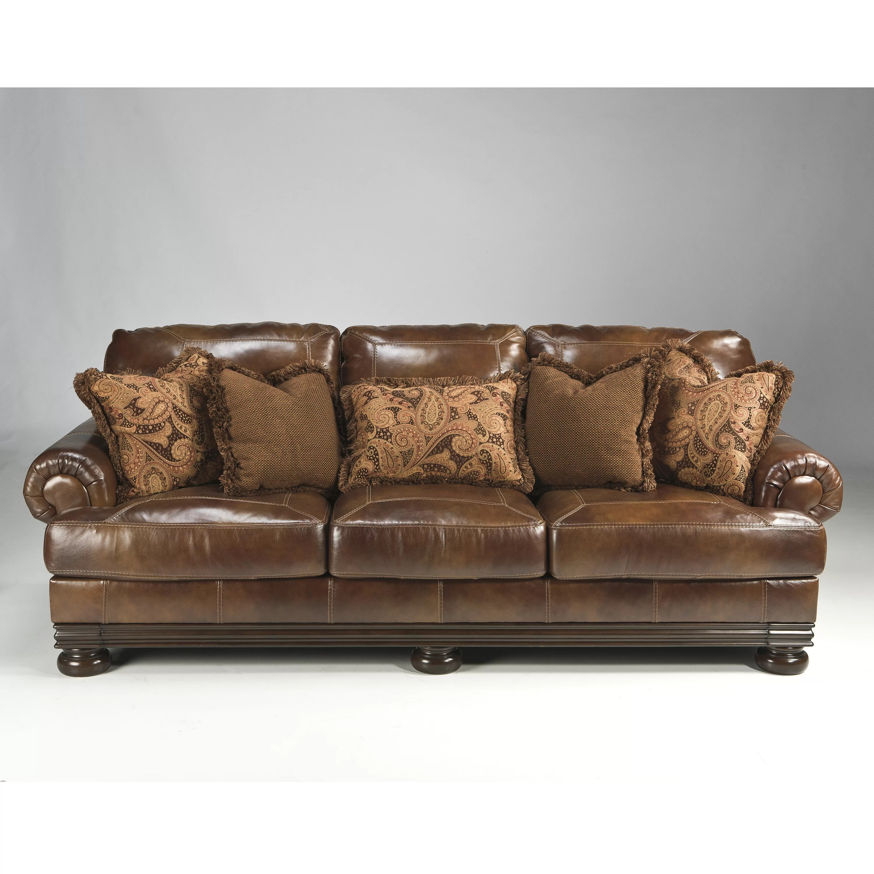 ashley leather sofa review best quality brands 2017 signature design by hutcherson