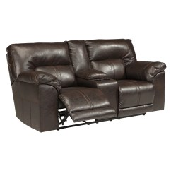 Double Reclining Leather Sofa Seat Covers For Sectional Signature Design By Ashley Console