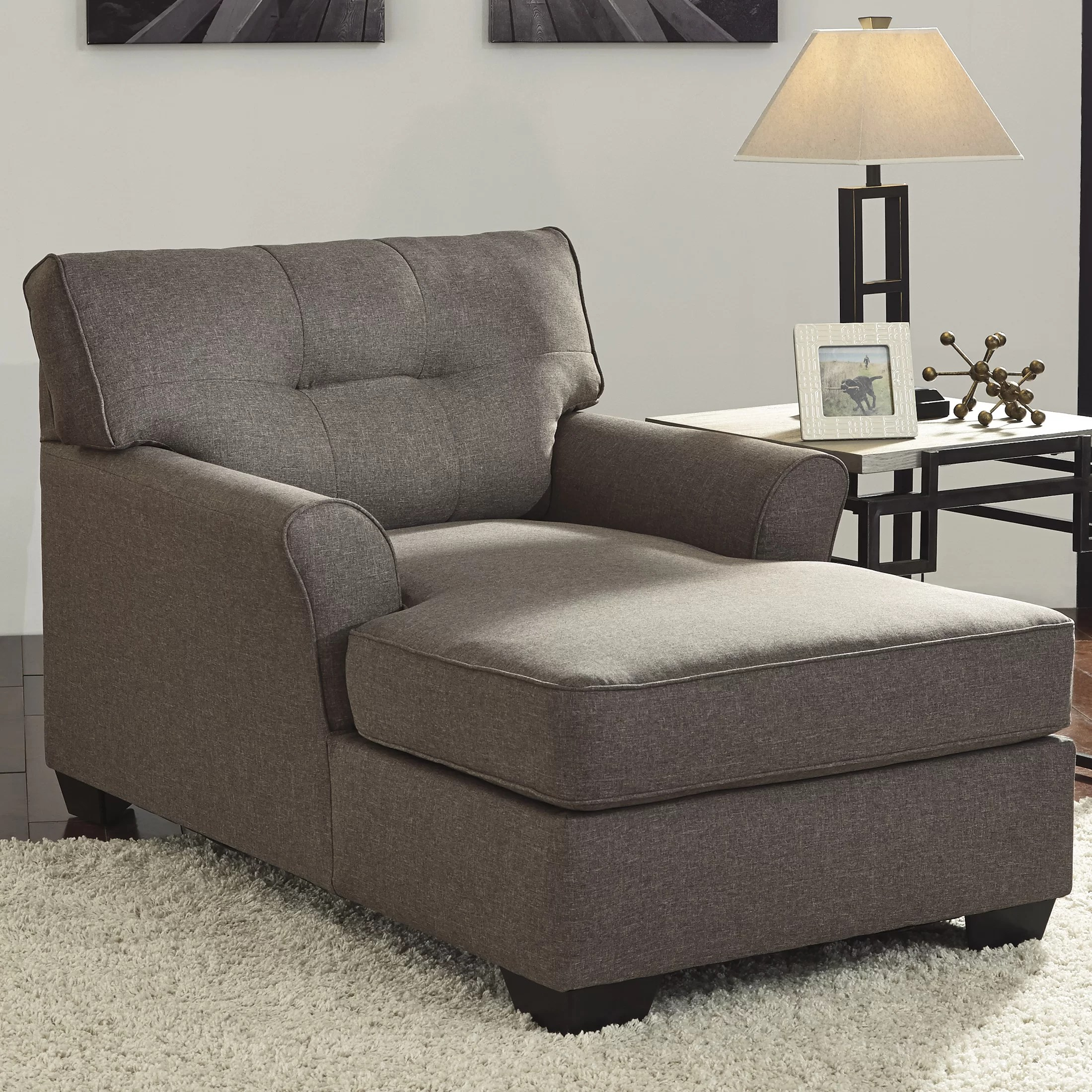 Chair Lounge Signature Design By Ashley Tibbee Chaise Lounge And Reviews