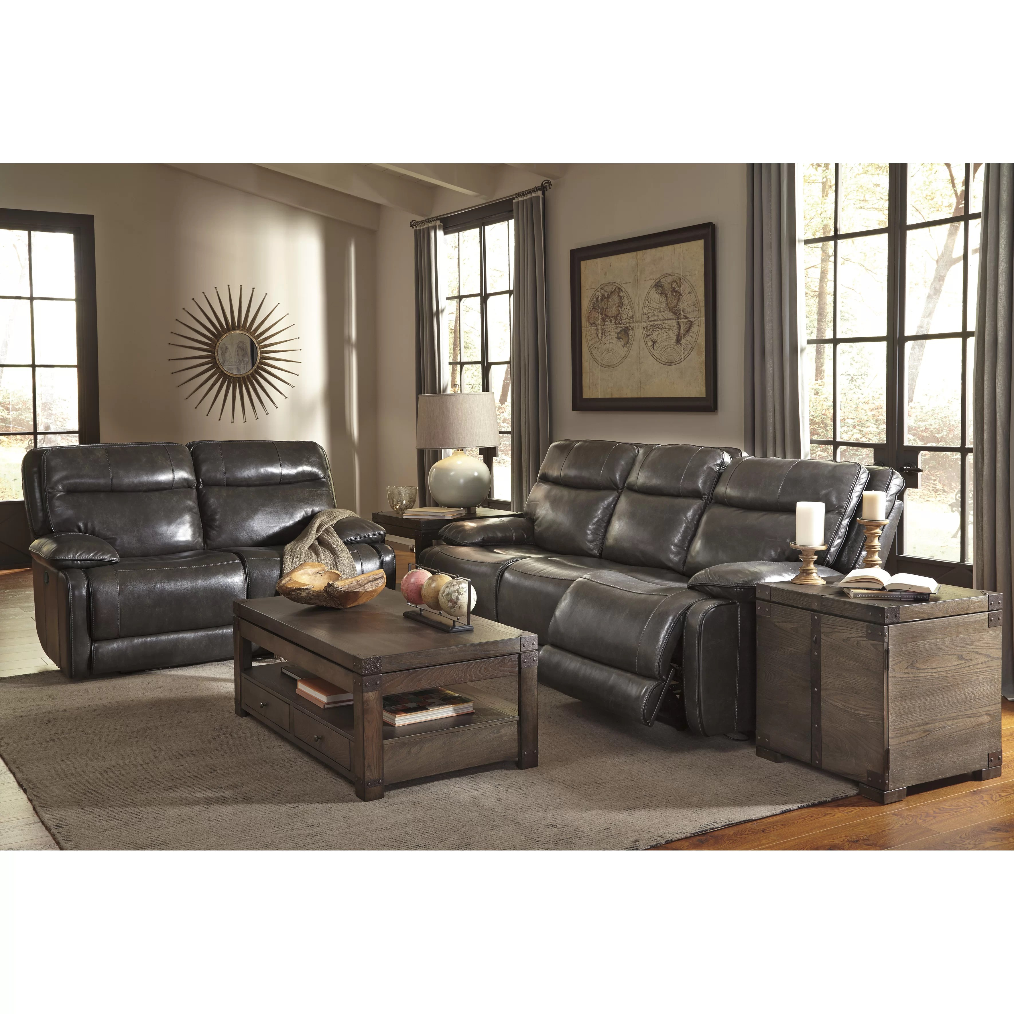 ashley furniture leather sofa recliners ikea square table signature design by reclining wayfair