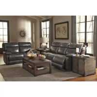 Signature Design by Ashley Leather Reclining Sofa