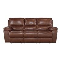 Signature Design by Ashley Leather Reclining Sofa | Wayfair
