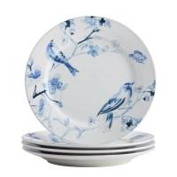 Paula Deen Indigo Blossom Stoneware 16 Piece Dinnerware ...