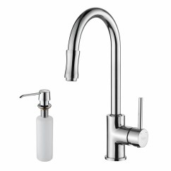 Pull Down Kitchen Faucet Reviews Fruit Basket Kraus Single Handle Set With