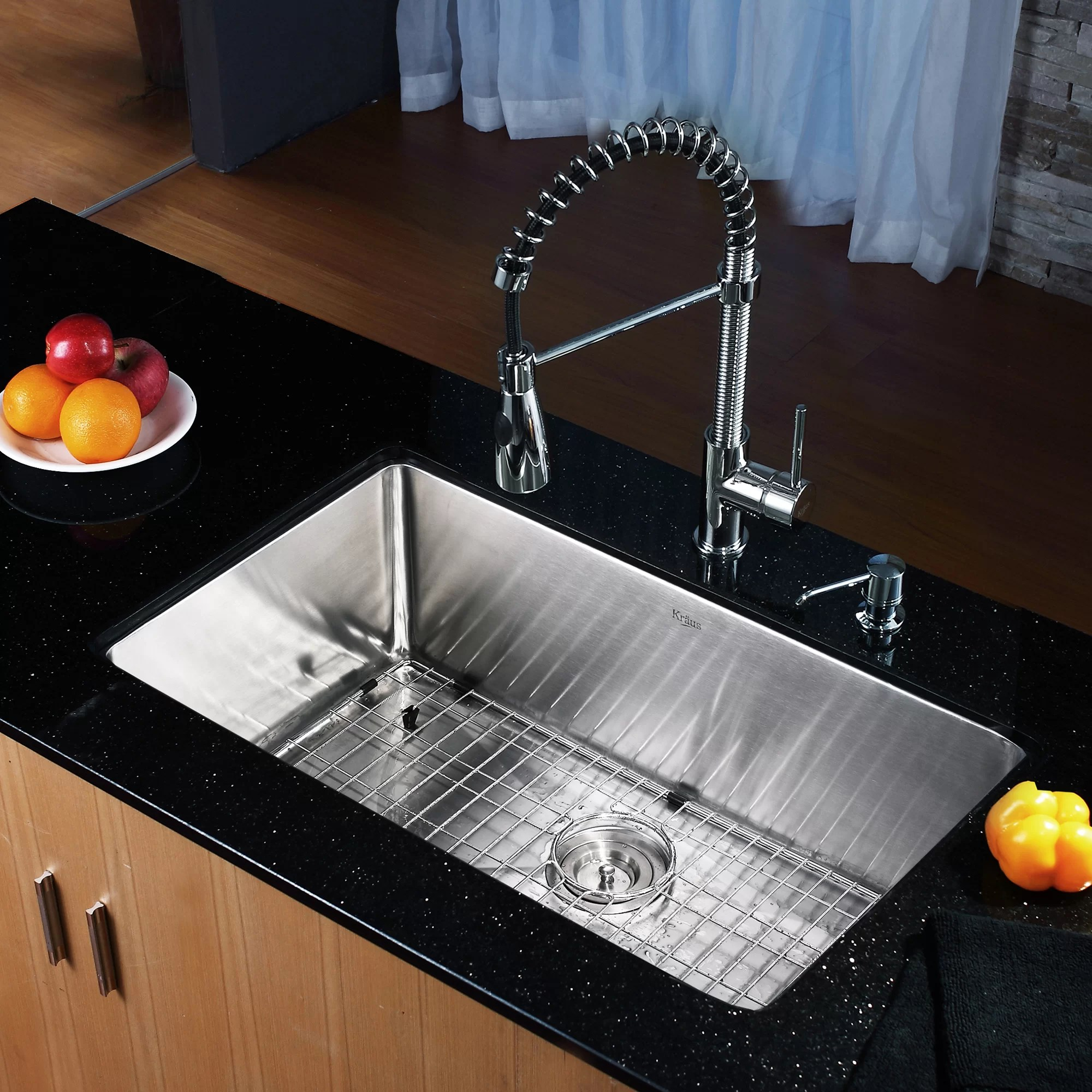 30 undermount kitchen sink china dishes kraus quot x 18 with faucet and