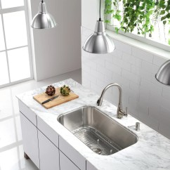 Single Bowl Kitchen Sinks Unique Faucets For Kitchens Kraus Stainless Steel 16 Gauge Undermount 31 5 Quot
