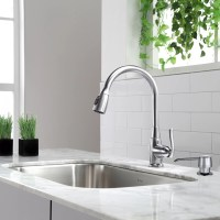 Kraus One Handle Single Hole Kitchen Faucet & Reviews ...