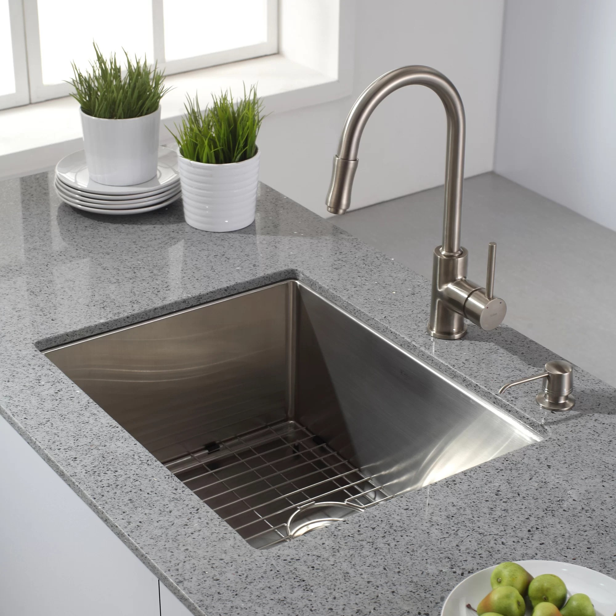 buy undermount kitchen sink milos kraus 23 quot l x 18 w single bowl 16 gauge