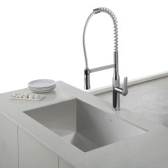 Kitchen Faucet Commercial Style Farmhouse Faucets Kraus Nola Single Lever