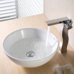 Round Kitchen Sink Designing Kitchens Kraus Ceramic Vessel Bathroom And Reviews Wayfair