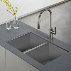 Stainless Steel Kitchen Sink Reviews Table Booth Kraus Pax Zero Radius 31 5 Quot X 18 16 Gauge Handmade