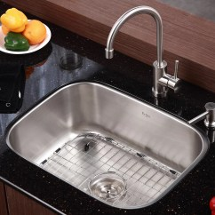 Stainless Steel Kitchen Sink Reviews Floor Runners Kraus 16 Gauge Undermount 31 5 Quot Single