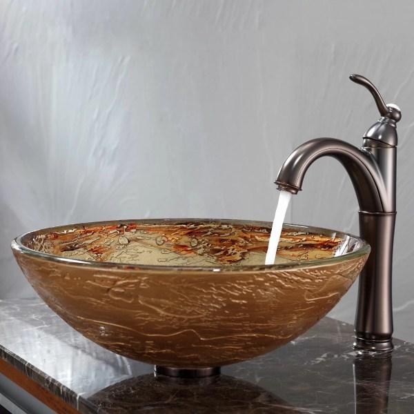 Kraus Glass Vessel Bathroom Sinks