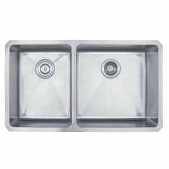 Undermount Double Kitchen Sink Cabinets Refacing Kraus 32 75 Quot X 19 6 Piece 60 40 Bowl