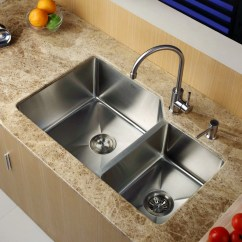 Double Bowl Kitchen Sink Custom Table Kraus 32 Quot X 20 Undermount With