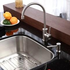 Single Bowl Kitchen Sinks Cabinet Organizer Ideas Kraus Stainless Steel 23 Quot X 17 6 Undermount