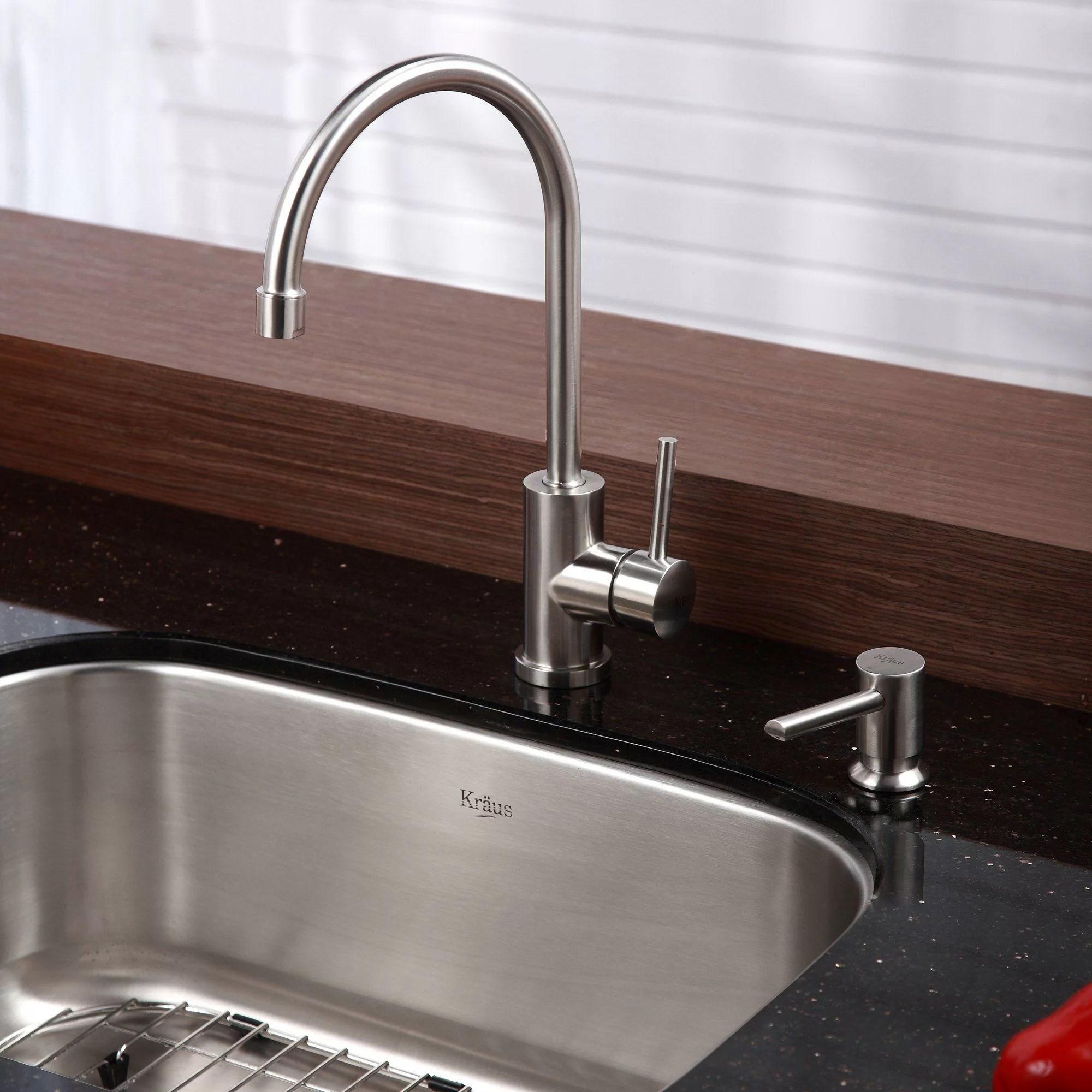 undermount stainless sinks kitchen aid costco kraus steel 23 quot x 17 6 single bowl