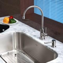 Single Bowl Kitchen Sinks Cabinet Pulls And Handles Kraus 31 5 Quot X 18 38 6 Piece Undermount