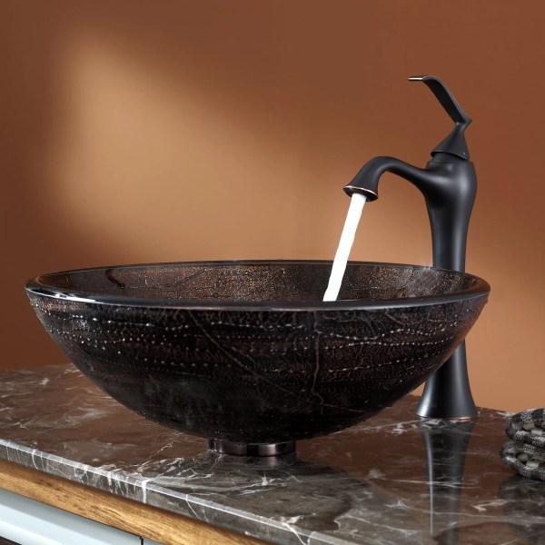 Kraus Copper Illusion Glass Vessel Sink