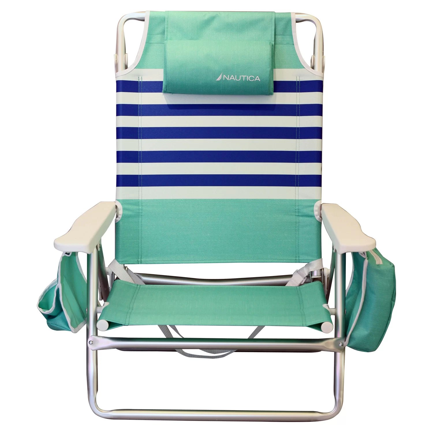 nautica beach chairs hanging chair stand only stripe with cushions wayfair