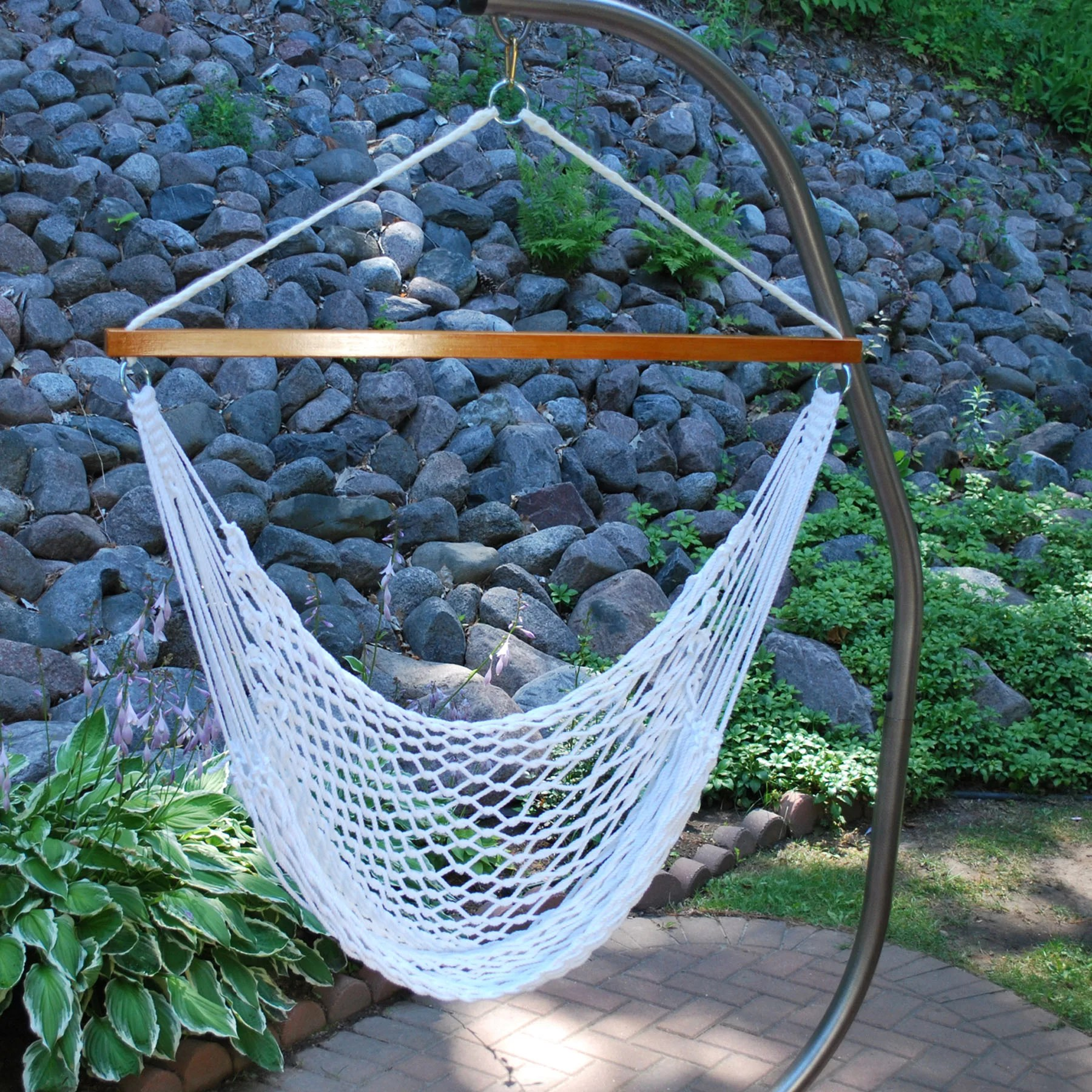 hammock chair reviews couch arm covers algoma net company rope and wayfair