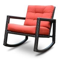 Algoma Net Company Aura Sunbrella Rattan Rocking Chair ...