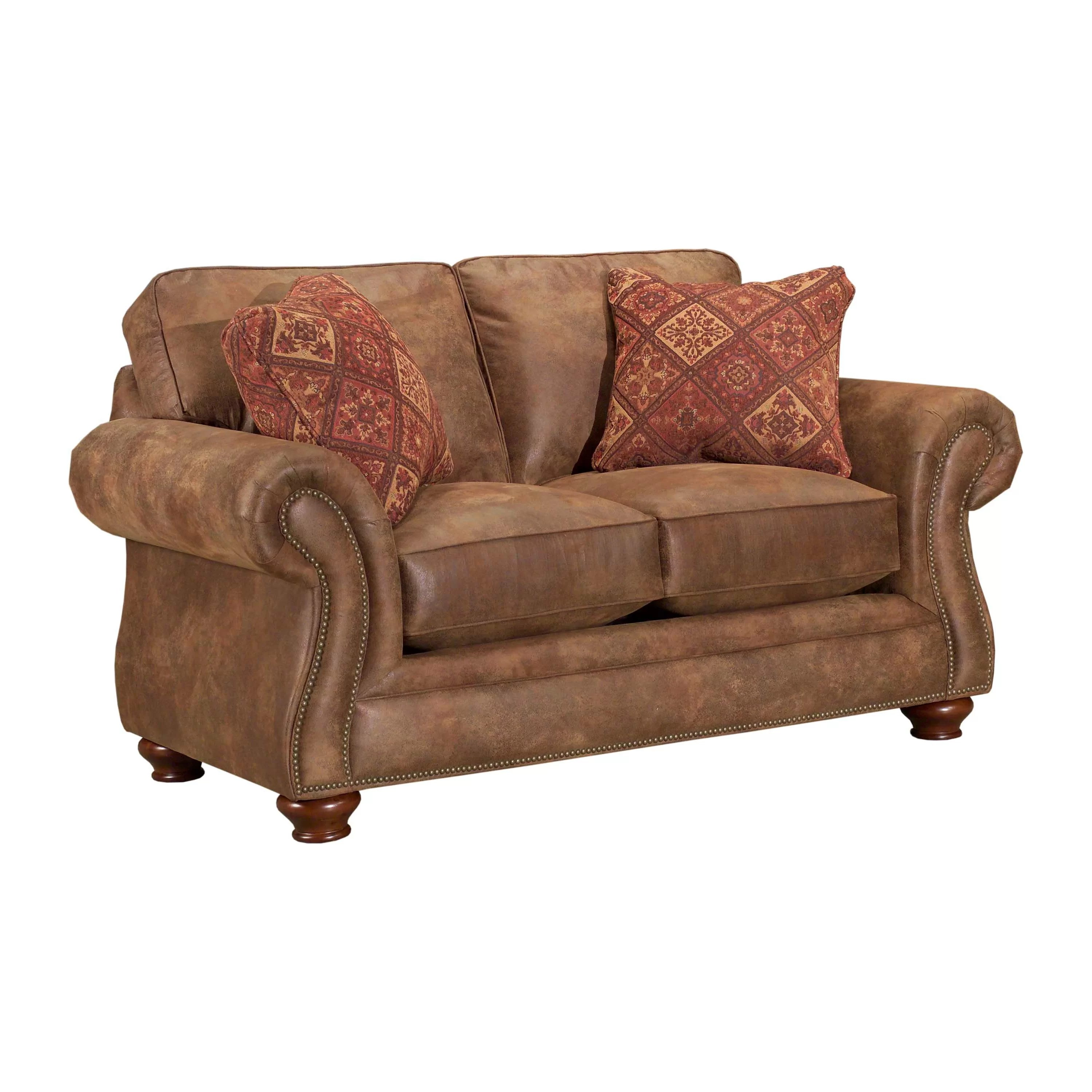 laramie sofa reviews chocolate brown sectional with chaise broyhill loveseat and wayfair ca