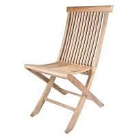 Arbora Teak Solid Teak Classic Folding Dining Side Chairs ...