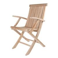 Arbora Teak Solid Teak Classic Folding Dining Arm Chairs ...