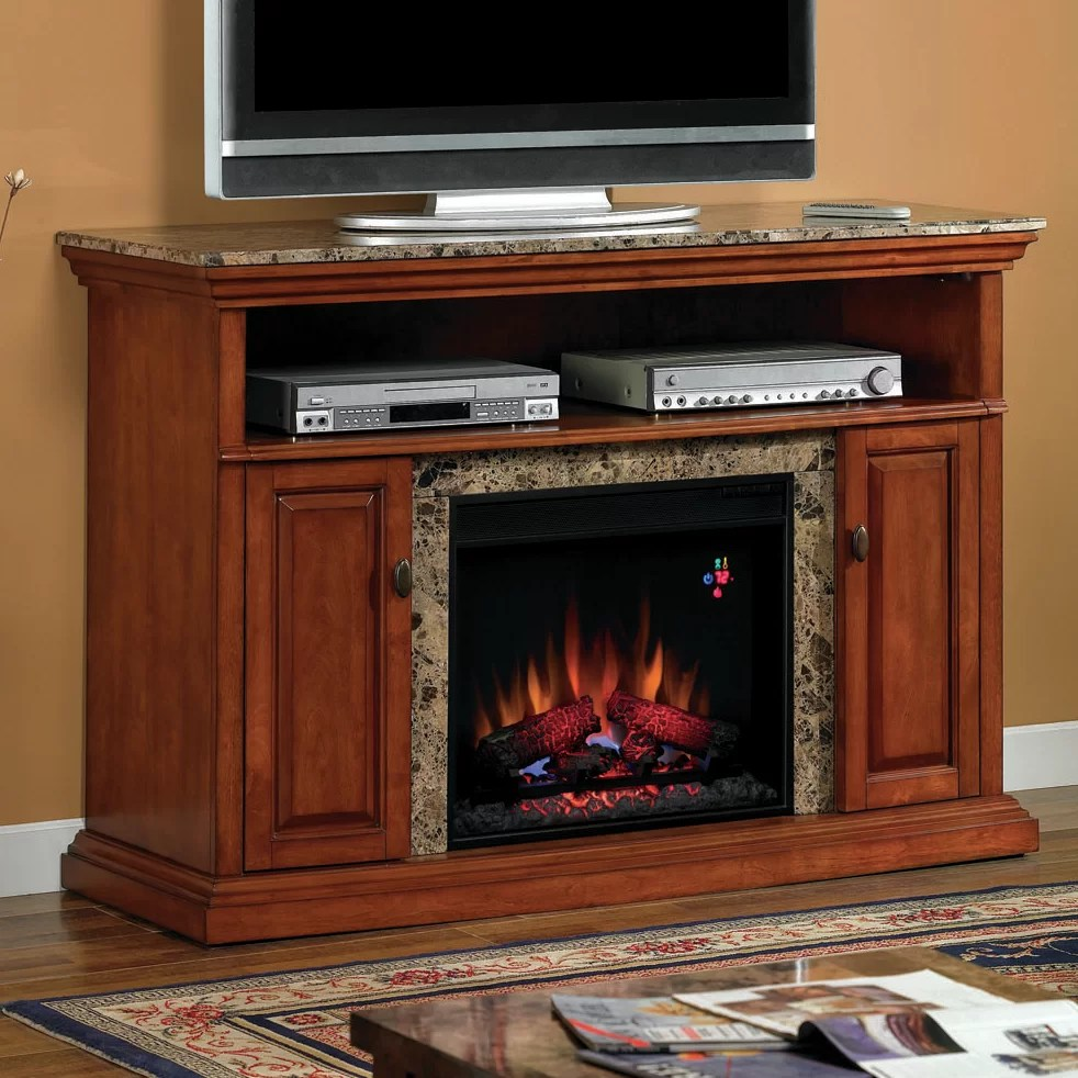 Classic Flame Brighton TV Stand with Electric Fireplace  Reviews  Wayfair