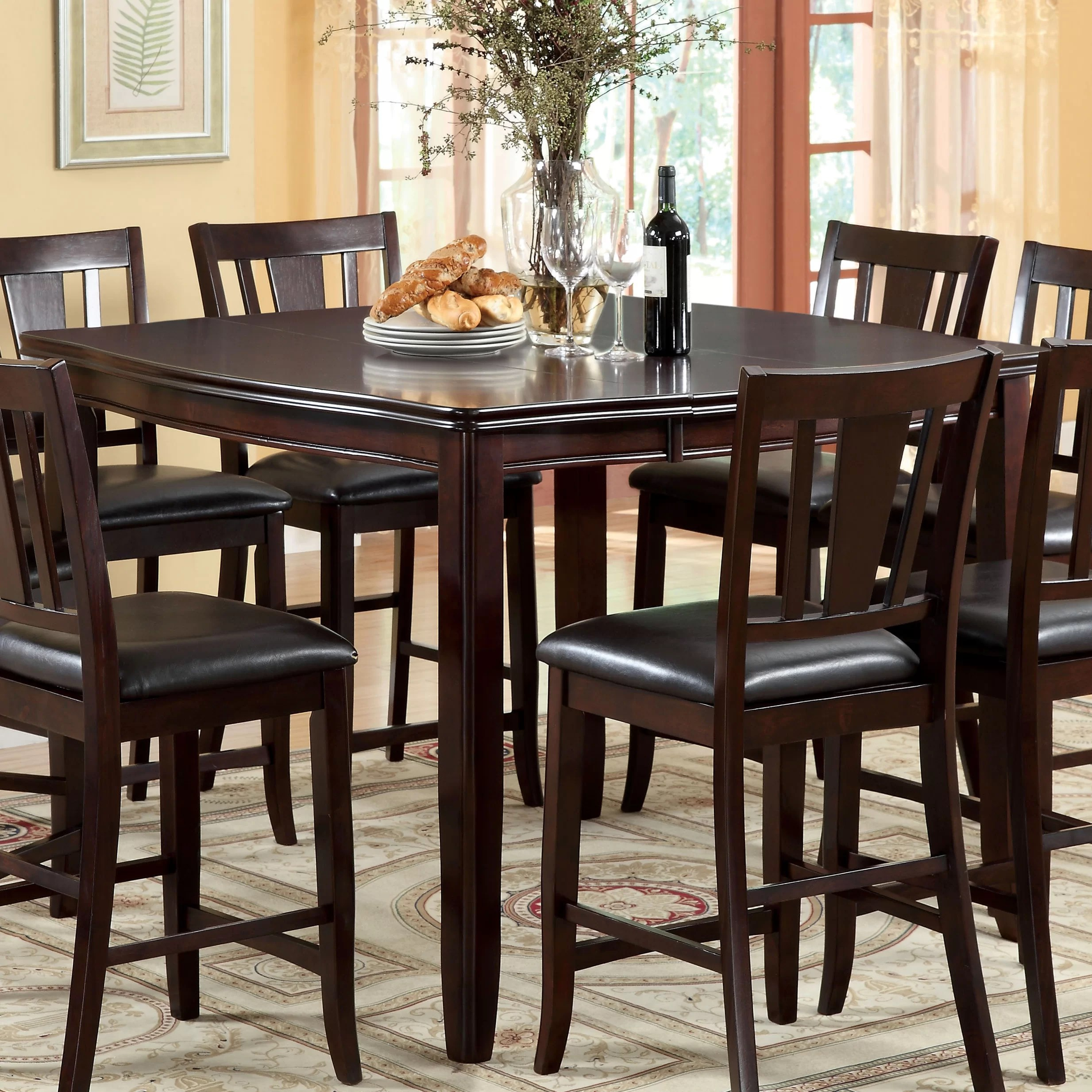 Hokku Designs Nappa 7 Piece Counter Height Dining Set