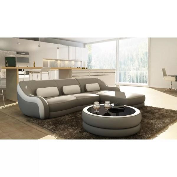 Hokku Design Addison Leather Sectional