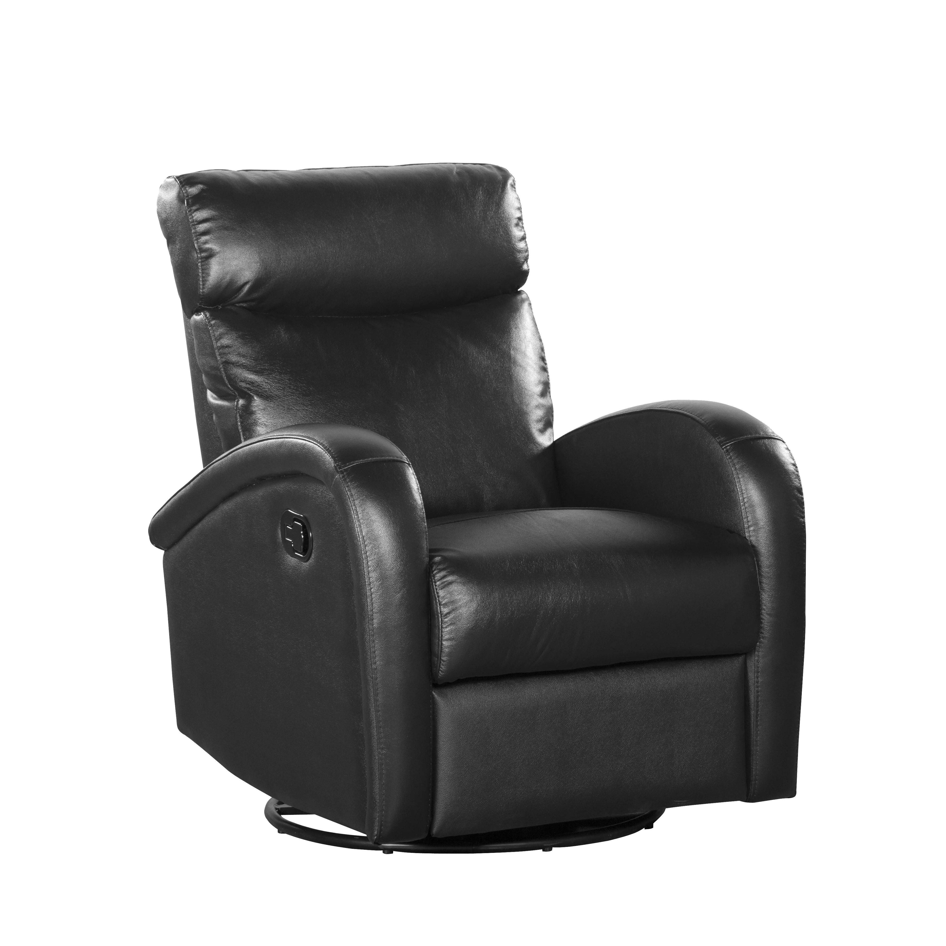 push button recliner chairs fitted chair covers shermag leather and reviews wayfair