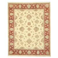 Eastern Rugs Hand-Knotted Ivory Area Rug | Wayfair