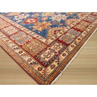 Eastern Rugs Hand-Knotted Blue Area Rug | Wayfair