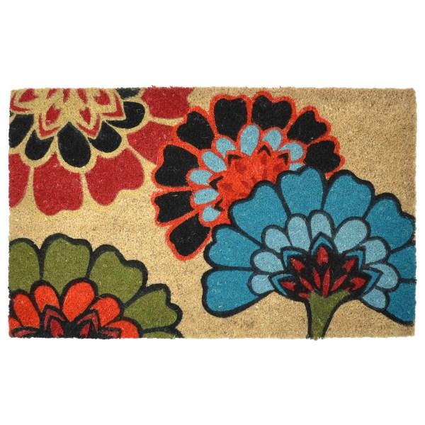 Kosas Home Flowers Doormat &