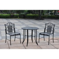 International Caravan Mandalay Iron 3 Piece Patio Bistro ...