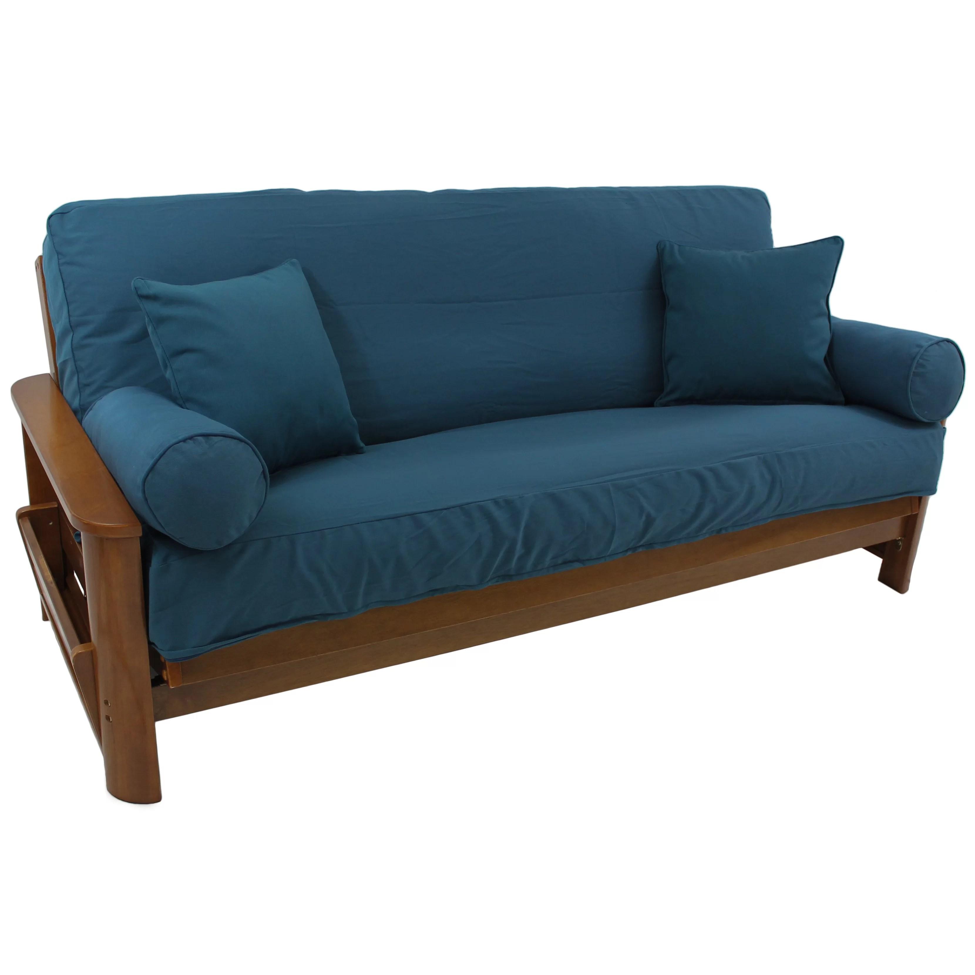 overstock sofa covers lane reclining sofas reviews blazing needles 5 piece futon slipcover set and