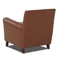 Wayfair Custom Upholstery Grayson Leather Arm Chair ...