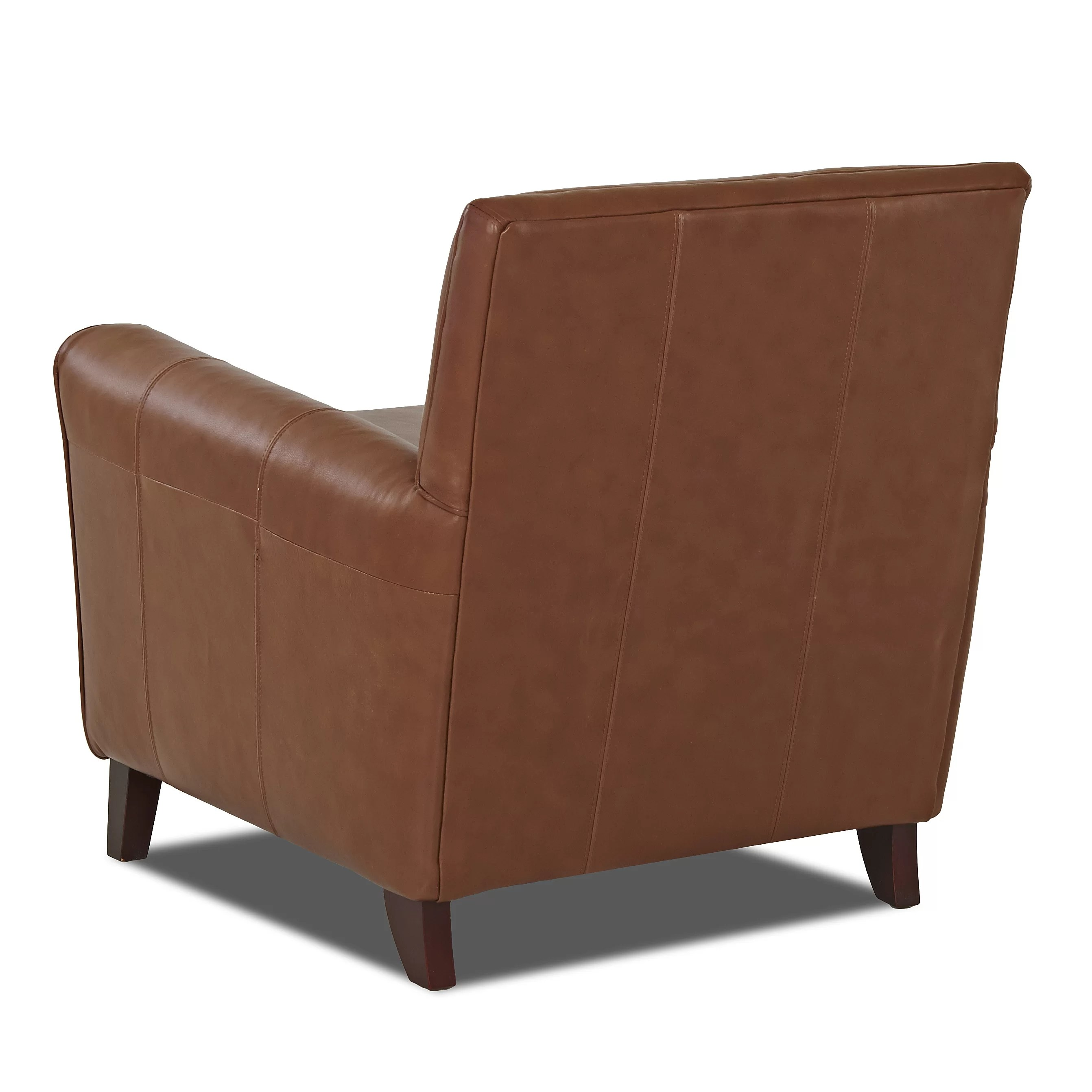 Wayfair Custom Upholstery Grayson Leather Arm Chair
